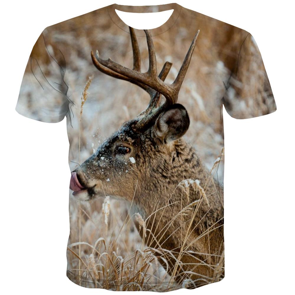 Hunting T shirts Men Jungle Tshirts Casual Deer T-shirts Graphic Shooter T-shirts 3d Camouflage Tshirts Novelty