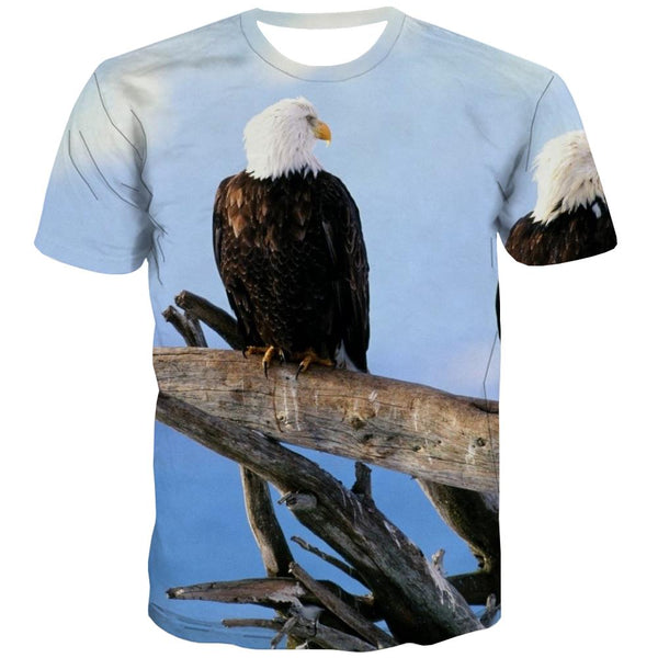 USA T shirts Men Animal T-shirts 3d Raptor Tshirt Anime Fly Tshirts Novelty Eagle Shirt Print