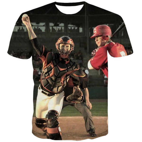 Baseball T shirts Men Stadium T-shirts Graphic Game Tshirt Printed White Tshirt Anime