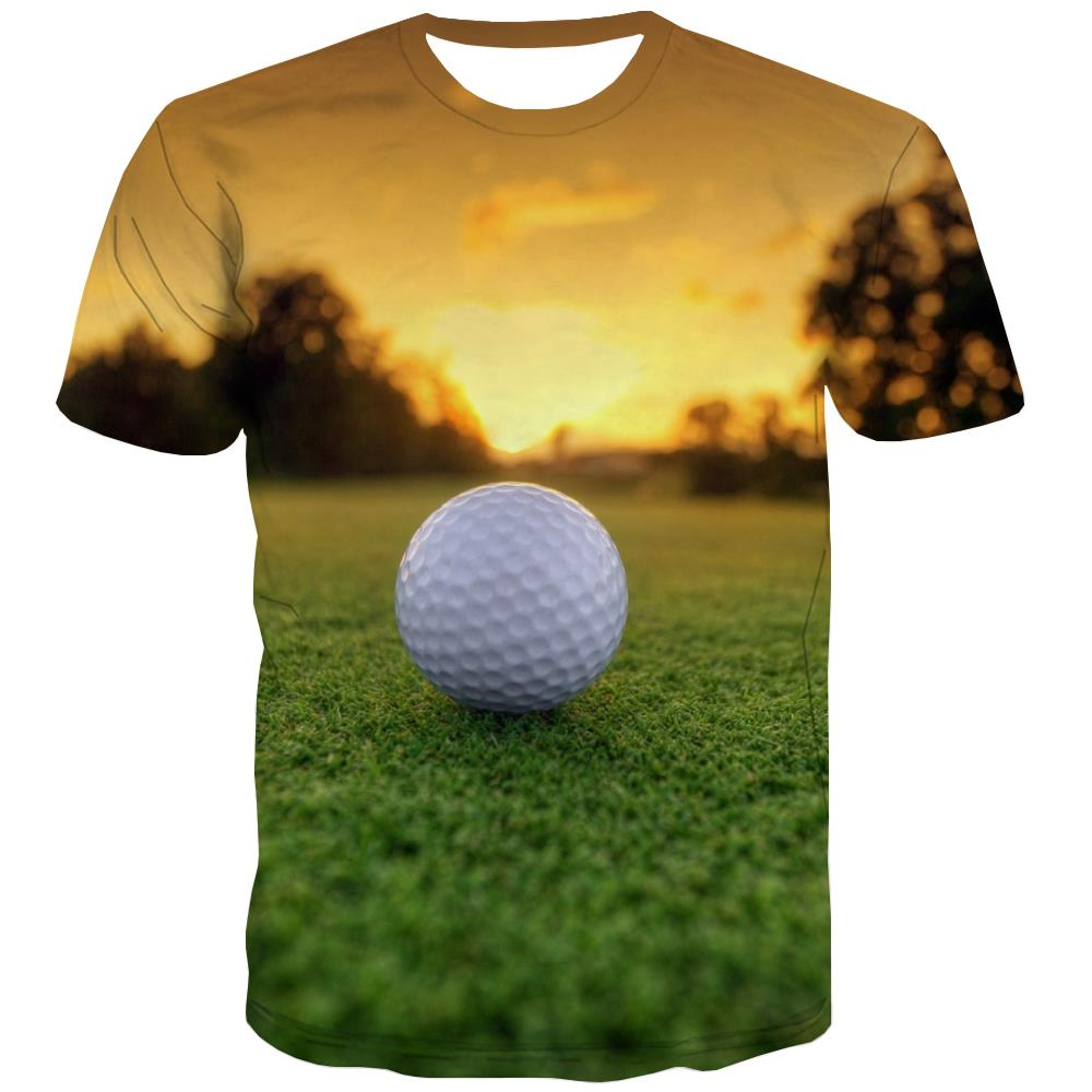 Lawn T-shirt Men Golf Tshirts Cool Forest Tshirt Printed Natural Shirt Print Game T shirts Funny