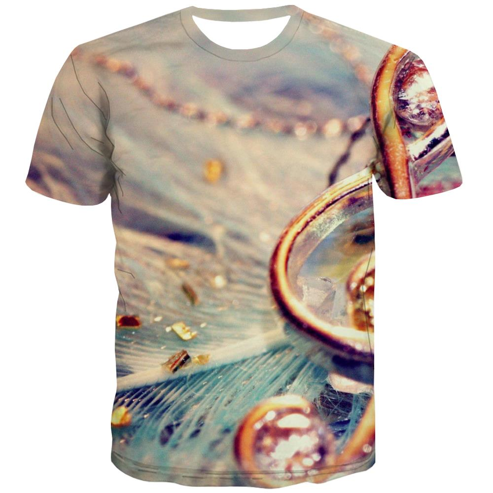 Music T-shirt Men Instrument T-shirts 3d Retro Tshirts Cool Electronic T shirts Funny