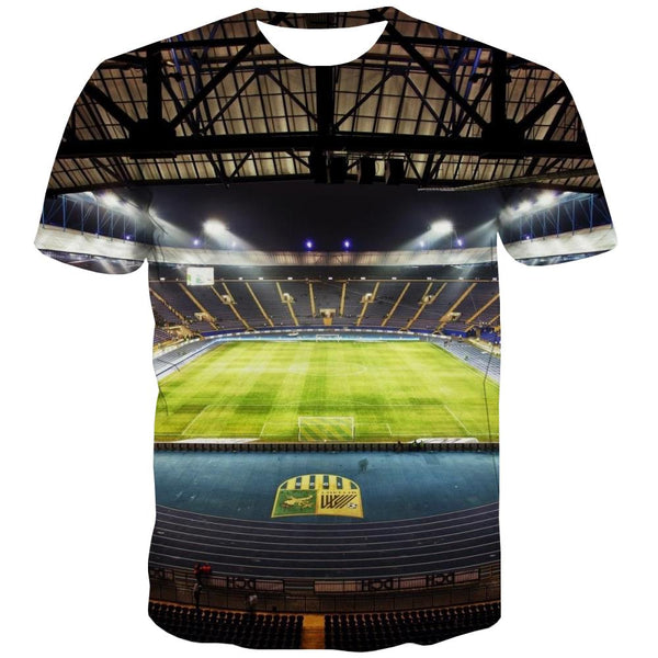 Lawn T shirts Men Football Tshirt Printed Athletics Shirt Print Stadium T shirts Funny