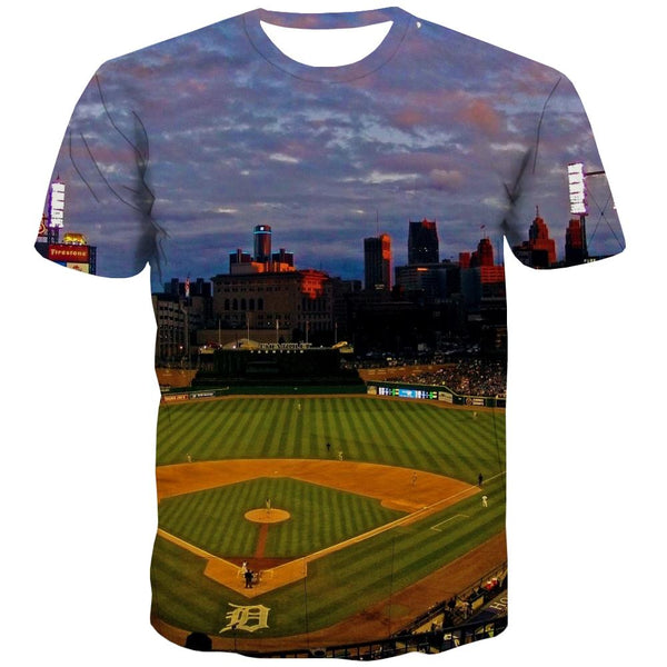 Baseball T shirts Men Stadium T-shirts 3d Game T-shirts Graphic White T shirts Funny