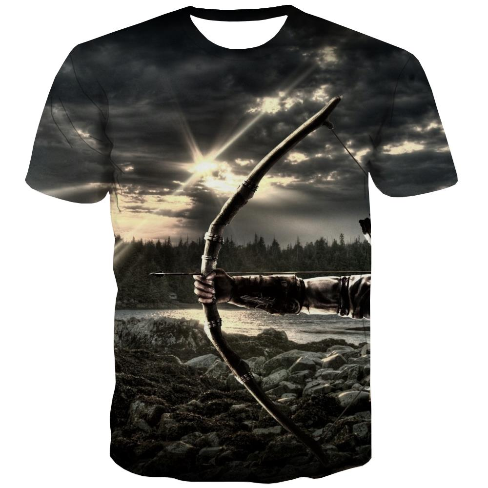 Hunting T-shirt Men Jungle Tshirts Cool Deer T-shirts Graphic Shooter Tshirts Novelty Camouflage T-shirts 3d