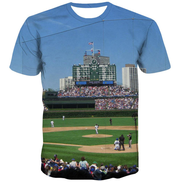 Baseball T shirts Men Stadium T-shirts Graphic Game T shirts Funny White Tshirt Anime
