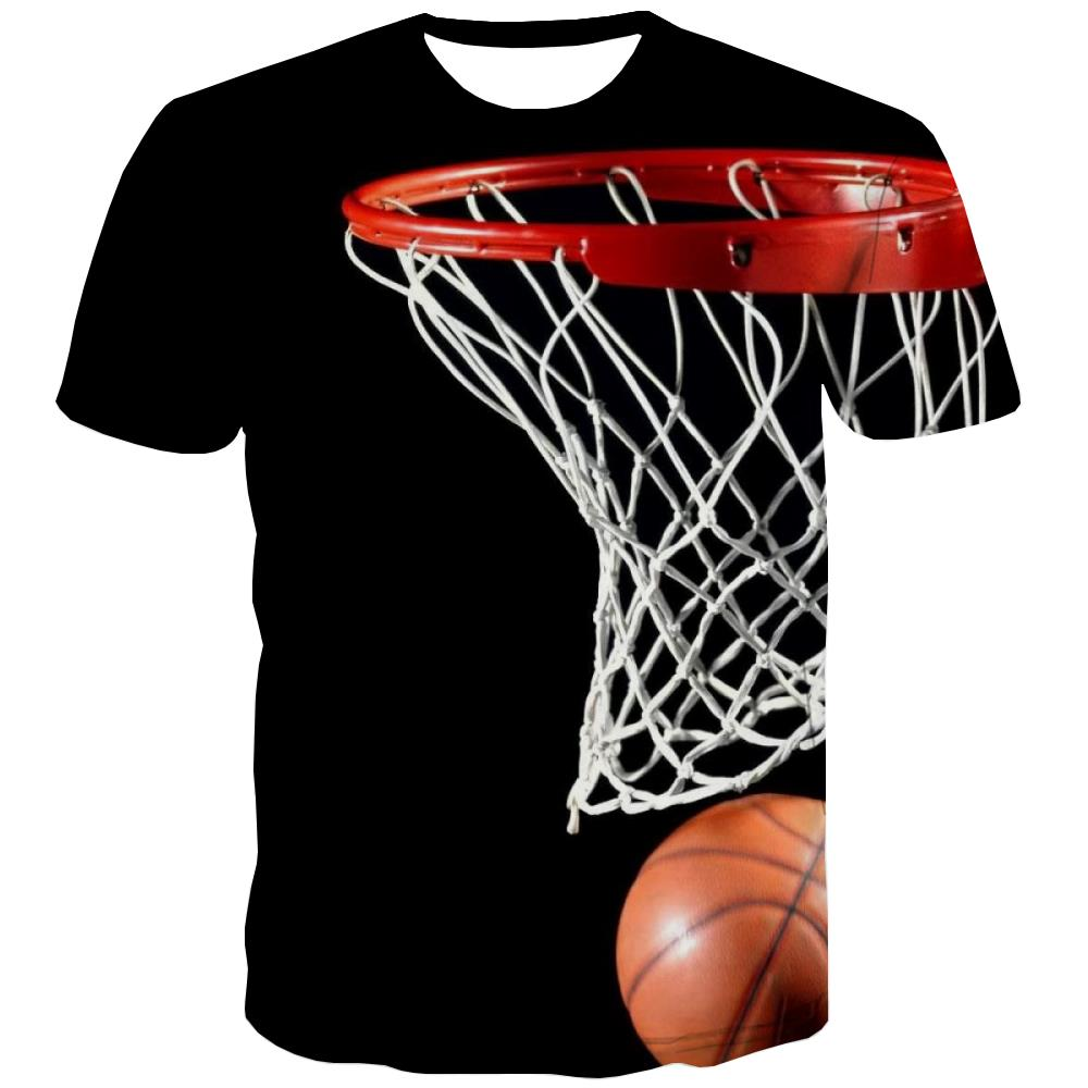 Basketball T shirts Men Night View Tshirt Printed Galaxy Tshirts Cool City T-shirts Graphic