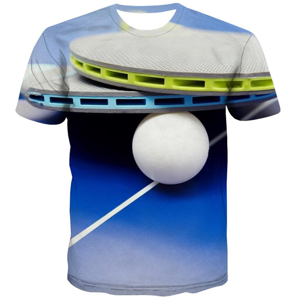 Pingpong T-shirt Men Game Shirt Print Movement Tshirt Anime Short Sleeve Fashion