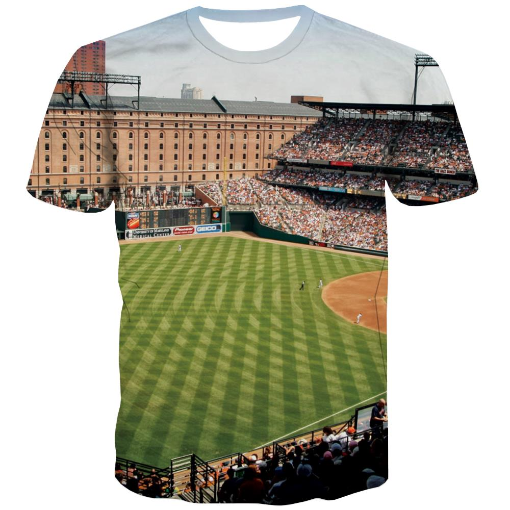Baseball T shirts Men Stadium Shirt Print Game Tshirts Novelty White T-shirts Graphic