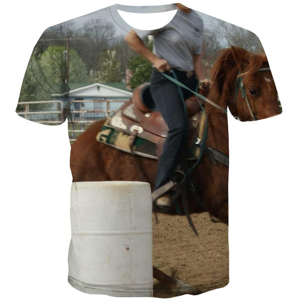Borse T-shirt Men Competition Tshirt Printed Raced Tshirts Novelty Equestrian T-shirts Graphic