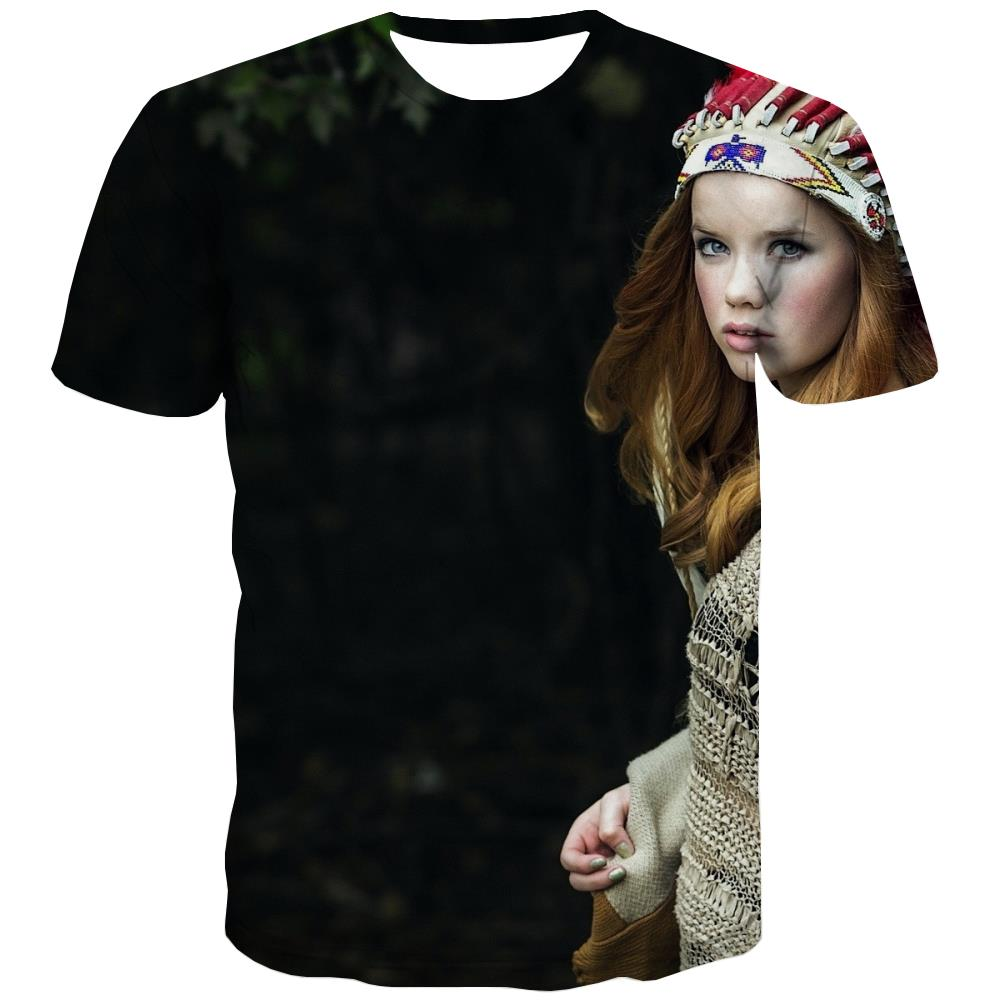 Indians T shirts Men Grassland Shirt Print Sunset T-shirts Graphic War Tshirts Casual