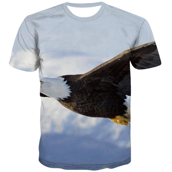 USA T shirts Men Animal Shirt Print Raptor Tshirts Casual Fly Tshirt Anime Eagle Tshirts Novelty