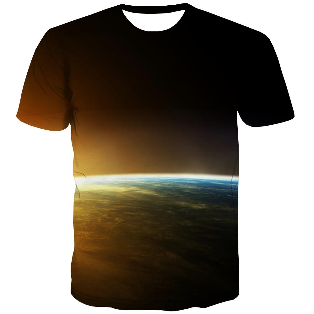 Galaxy T-shirt Men Planet Tshirts Novelty Starry Sky Tshirt Printed Colorful T-shirts 3d Harajuku Tshirt Anime
