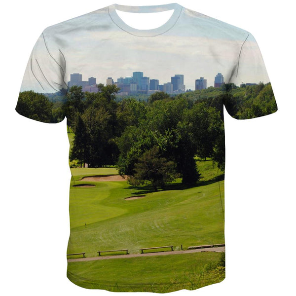 Lawn T shirts Men Golf Tshirt Anime Forest Tshirts Casual Natural Tshirts Novelty Game Tshirts Cool