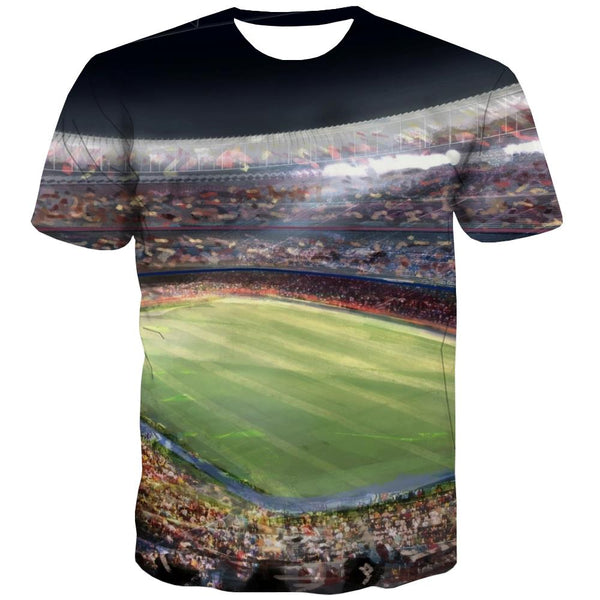 Baseball T shirts Men Stadium T shirts Funny Game T-shirts 3d White Tshirts Cool