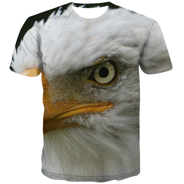 USA T-shirt Men Animal Tshirt Anime Raptor T-shirts 3d Fly Shirt Print Eagle Tshirt Printed