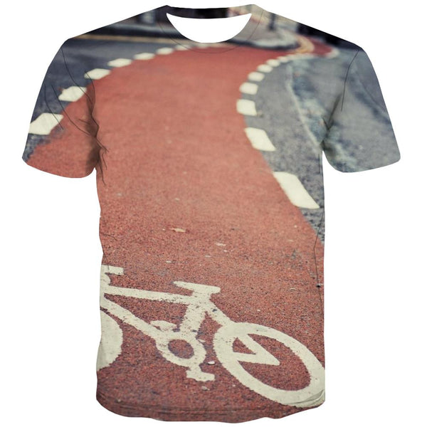 Bicycle T shirts Men Metal T-shirts Graphic City Tshirt Anime Psychedelic Tshirts Novelty