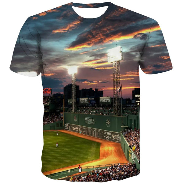 Baseball T-shirt Men Stadium Tshirt Anime Game Tshirts Cool White Tshirts Casual