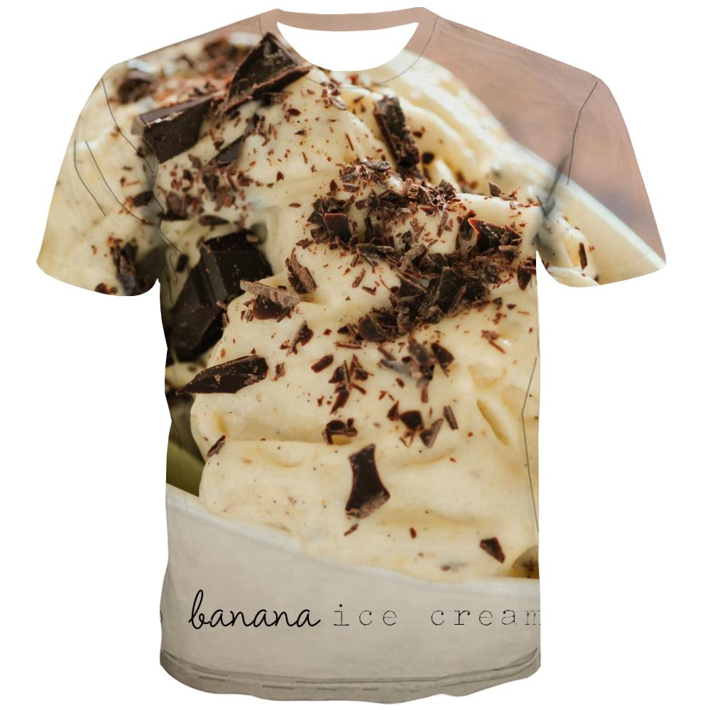 Sweet T-shirt Men Gourmet Tshirts Casual Icecream Tshirt Printed Colourful Tshirt Anime