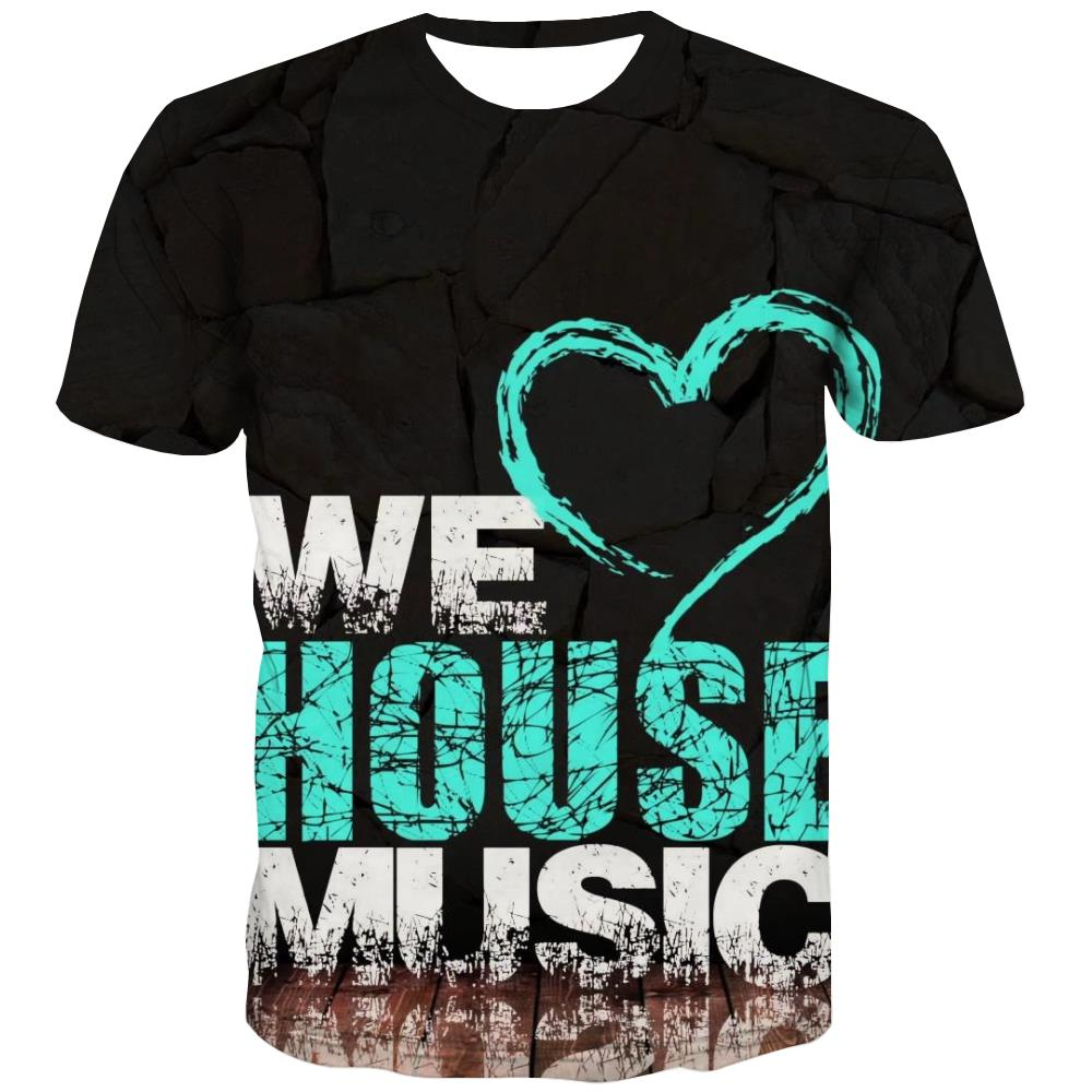 Music T shirts Men Instrument Shirt Print Retro Tshirts Novelty Electronic T-shirts Graphic