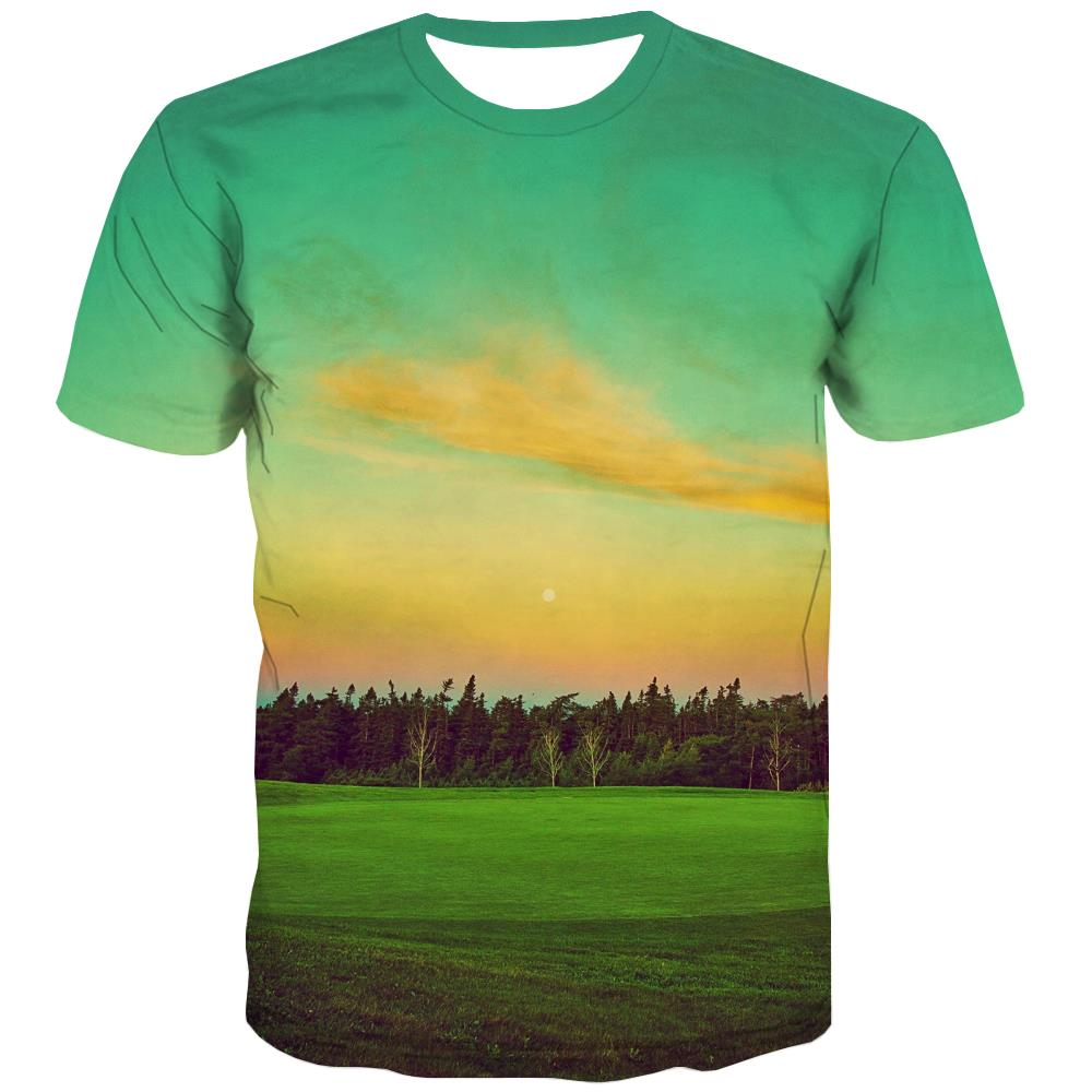 Lawn T-shirt Men Golf T-shirts Graphic Forest Tshirts Casual Natural Tshirts Novelty Game T shirts Funny