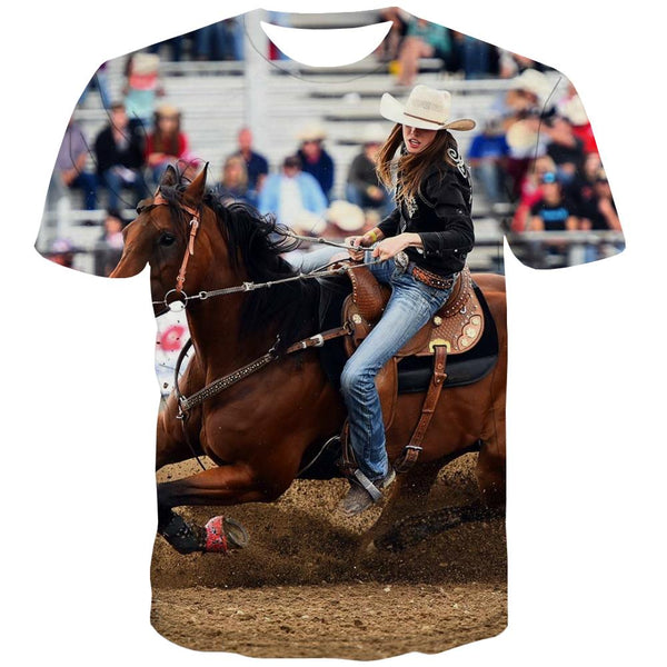 Borse T shirts Men Competition T-shirts Graphic Raced Shirt Print Equestrian Tshirt Anime