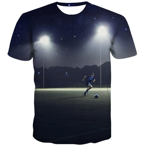 Lawn T shirts Men Football T shirts Funny Athletics T-shirts Graphic Stadium T-shirts 3d