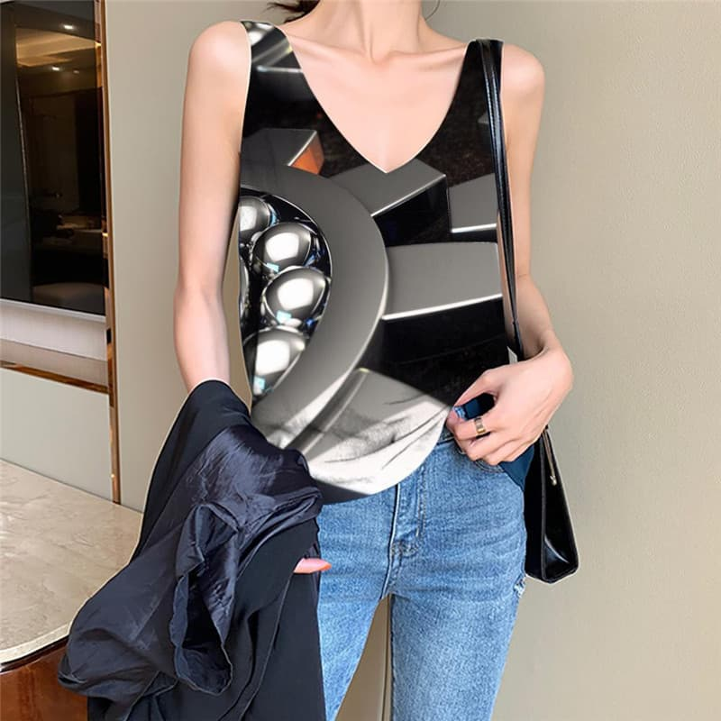 Metal Tank Top Women Engine Funny Top Gear Anime Clothes Harajuku Tank Tops Casual
