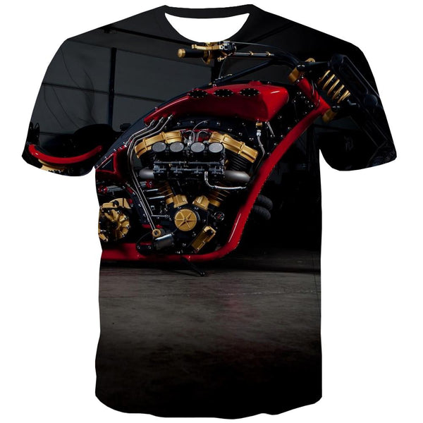 Bicycle T shirts Men Metal T-shirts 3d City Tshirt Anime Psychedelic Tshirt Printed