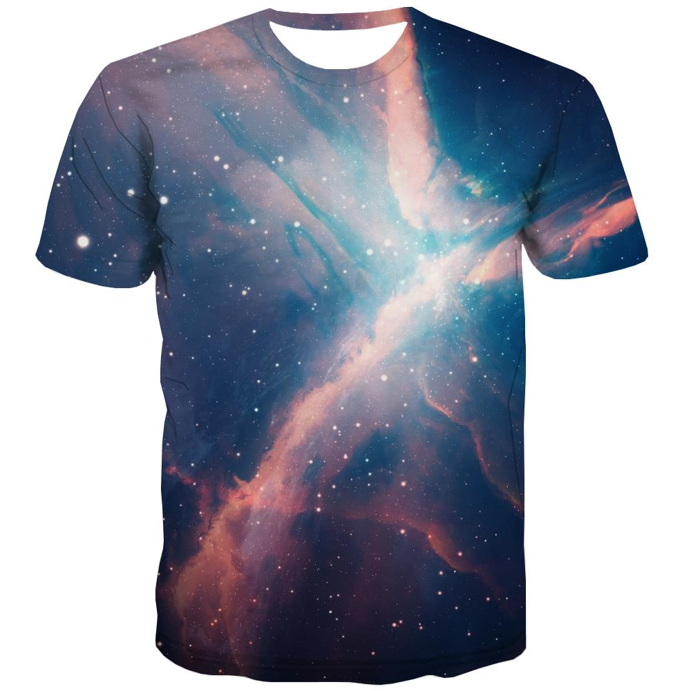 Galaxy T-shirt Men Planet T shirts Funny Starry Sky T-shirts Graphic Colorful Tshirt Printed Harajuku Shirt Print