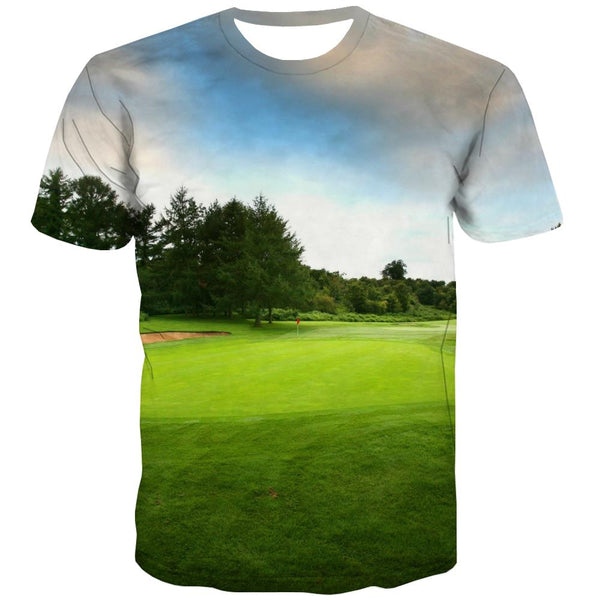 Lawn T shirts Men Golf Tshirts Novelty Forest T shirts Funny Natural Tshirt Printed Game Tshirts Cool