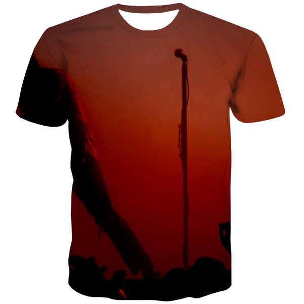 Music T shirts Men Instrument T-shirts Graphic Retro Tshirts Casual Electronic T shirts Funny