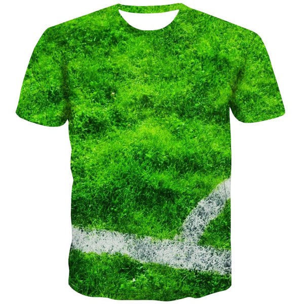 Lawn T-shirt Men Football Tshirts Casual Athletics Tshirts Cool Stadium T-shirts Graphic