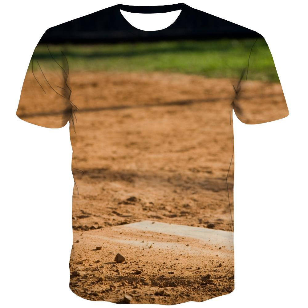 Baseball T shirts Men Stadium T shirts Funny Game Tshirts Novelty White T-shirts Graphic
