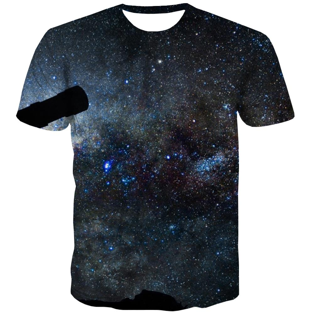 Galaxy T-shirt Men Planet T-shirts Graphic Starry Sky T shirts Funny Colorful Tshirts Novelty Harajuku Tshirts Casual
