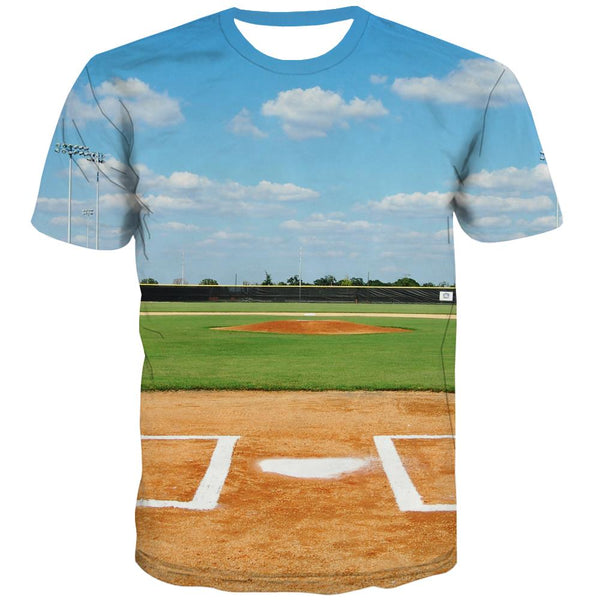 Baseball T shirts Men Stadium T shirts Funny Game T-shirts Graphic White Tshirt Anime