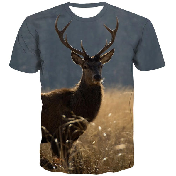 Hunting T shirts Men Jungle Tshirts Novelty Deer Tshirts Cool Shooter T shirts Funny Camouflage Tshirts Casual