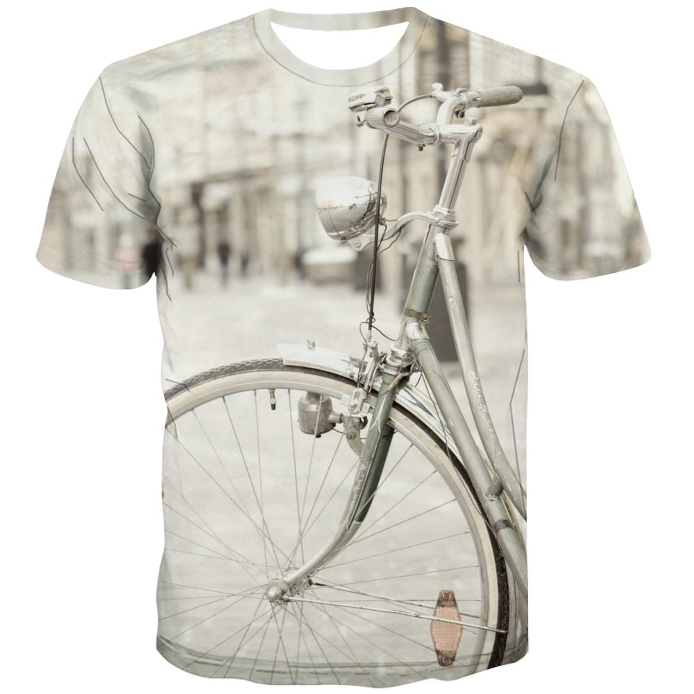 Bicycle T shirts Men Metal T shirts Funny City Tshirt Anime Psychedelic Tshirts Cool