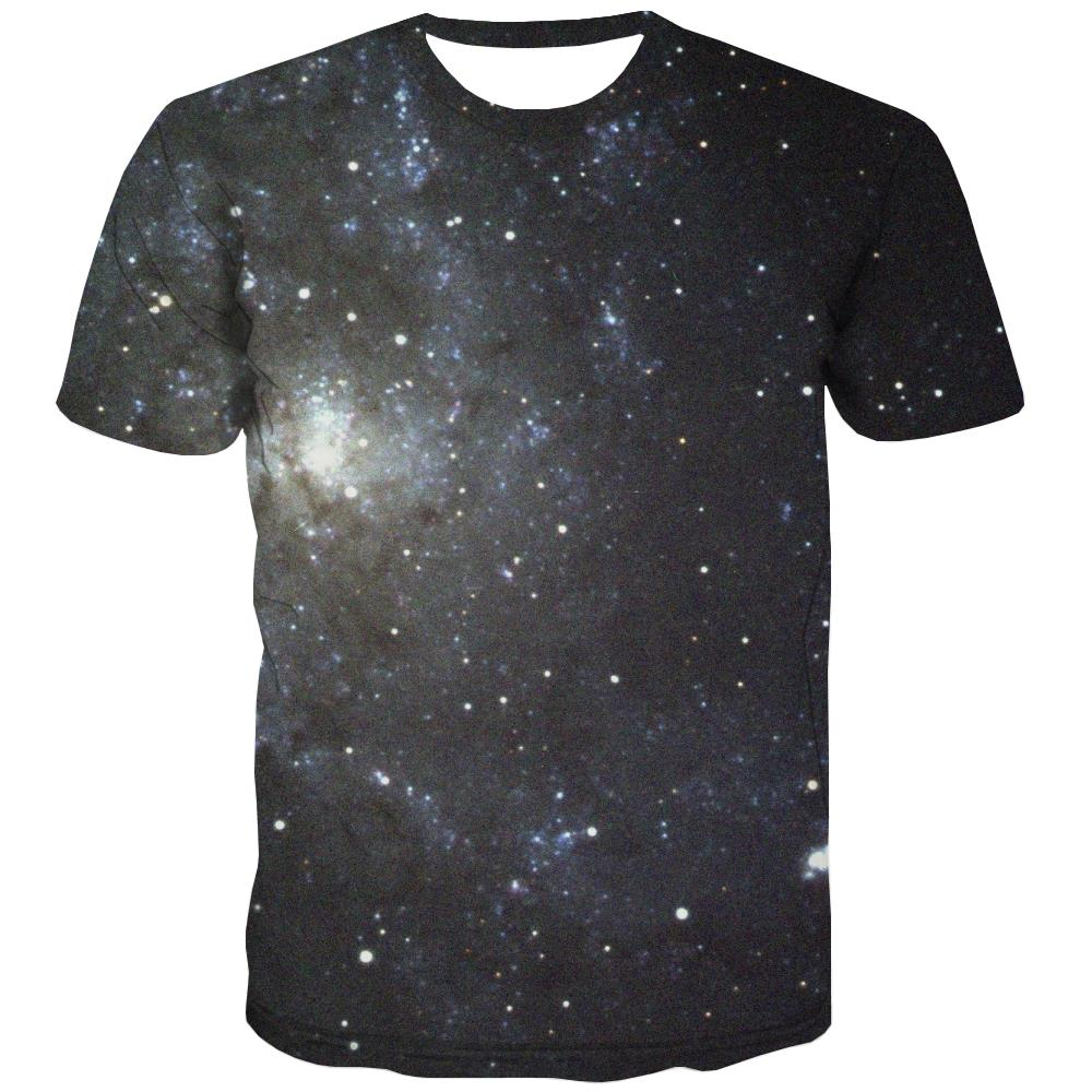 Galaxy T shirts Men Planet Tshirt Printed Starry Sky T-shirts 3d Colorful Shirt Print Harajuku T-shirts Graphic