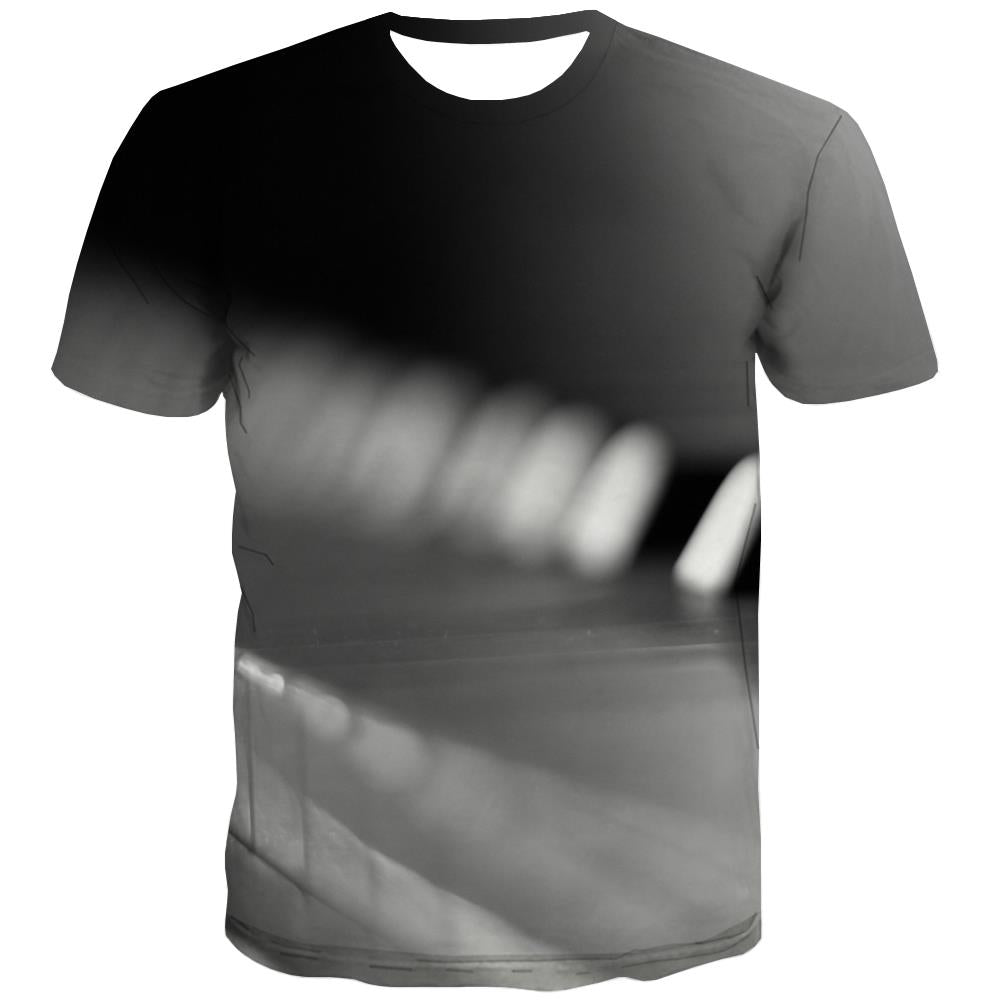 Music T-shirt Men Instrument T-shirts 3d Retro Tshirt Anime Electronic Tshirts Cool