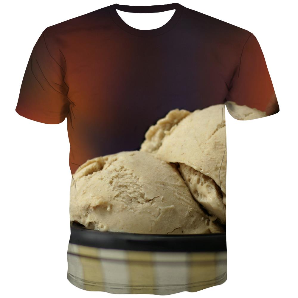 Sweet T-shirt Men Gourmet Shirt Print Icecream Tshirts Cool Colourful Tshirts Casual