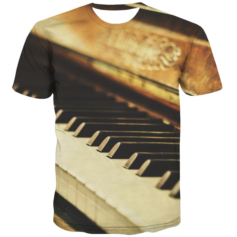 Music T-shirt Men Instrument Tshirts Cool Retro T-shirts Graphic Electronic Tshirts Casual