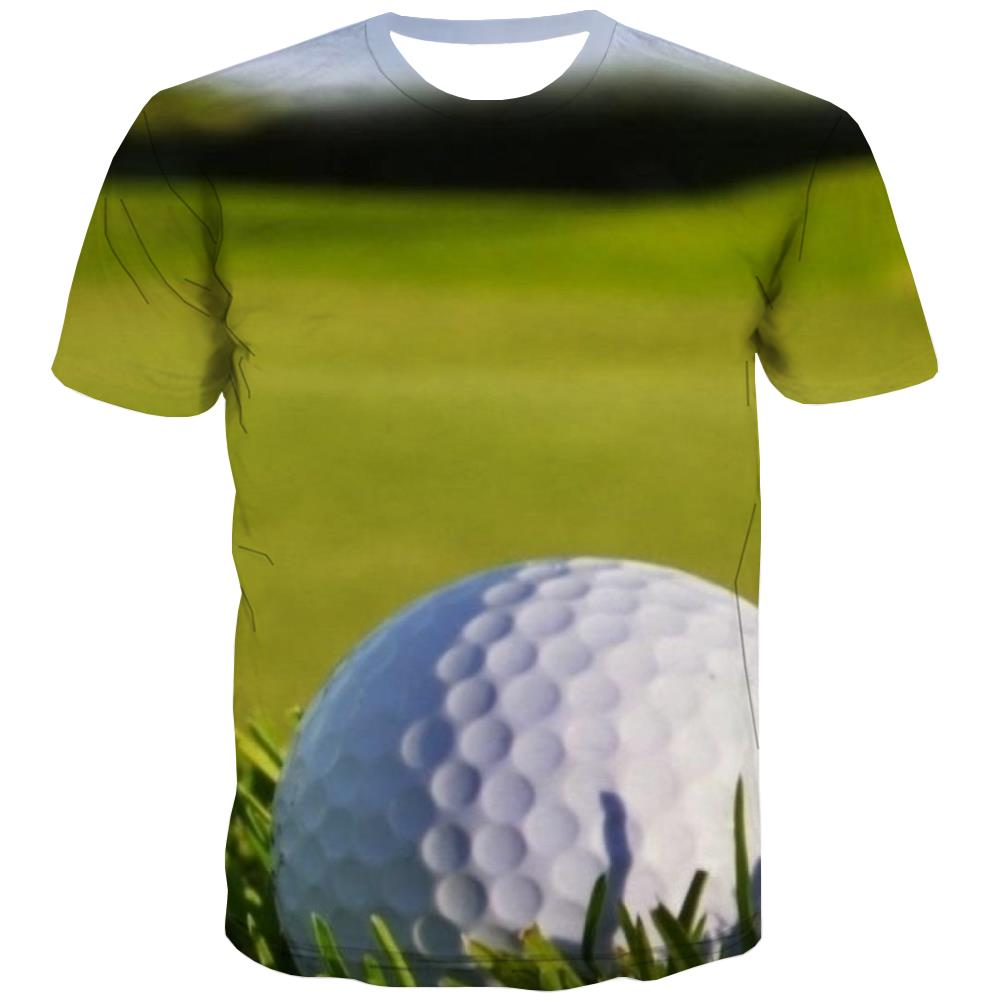 Lawn T shirts Men Golf Tshirts Cool Forest Tshirt Anime Natural Tshirts Novelty Game T shirts Funny