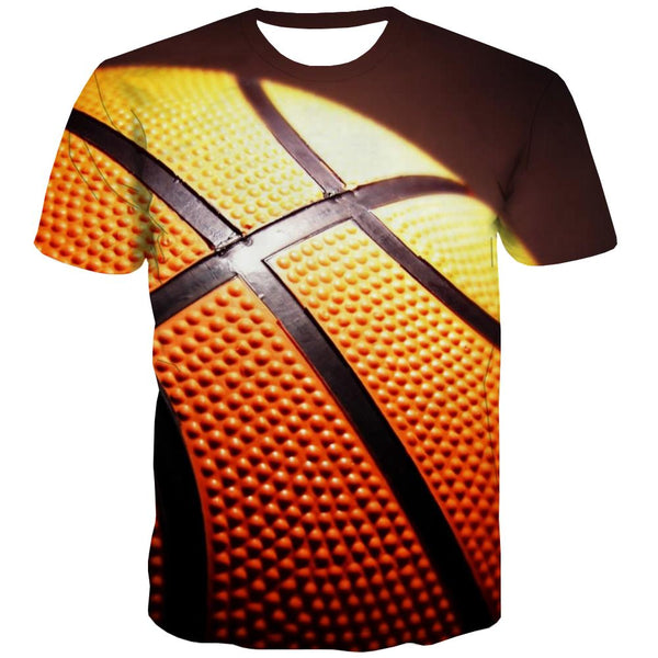 Basketball T shirts Men Night View Tshirts Cool Galaxy T-shirts 3d City Tshirt Printed