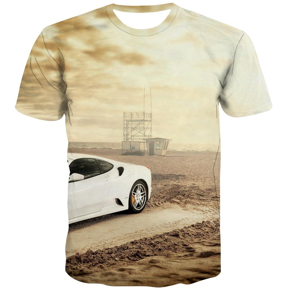 Racing Car T-shirt Men Metal Tshirts Novelty City T-shirts 3d Gray T-shirts Graphic Retro Tshirts Casual