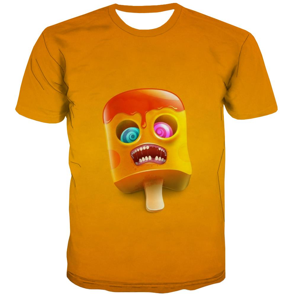 Sweet T-shirt Men Gourmet Tshirt Anime Icecream T shirts Funny Colourful T-shirts Graphic