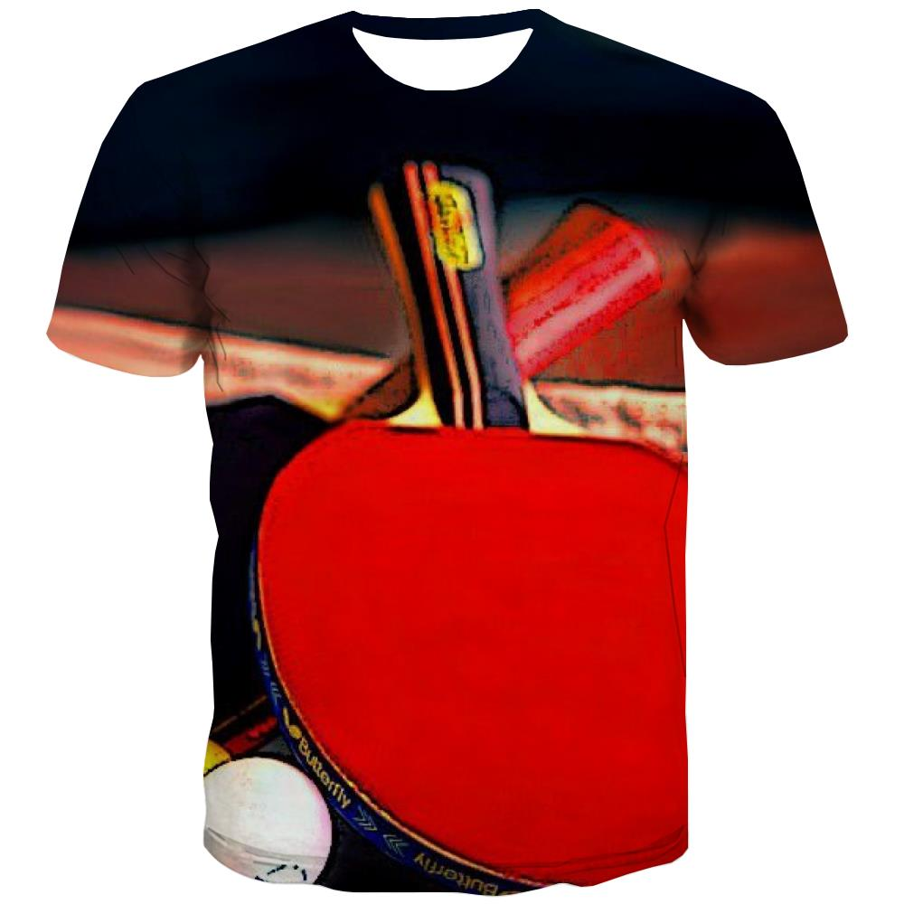 Pingpong T shirts Men Game Tshirt Printed Movement T-shirts 3d Short Sleeve