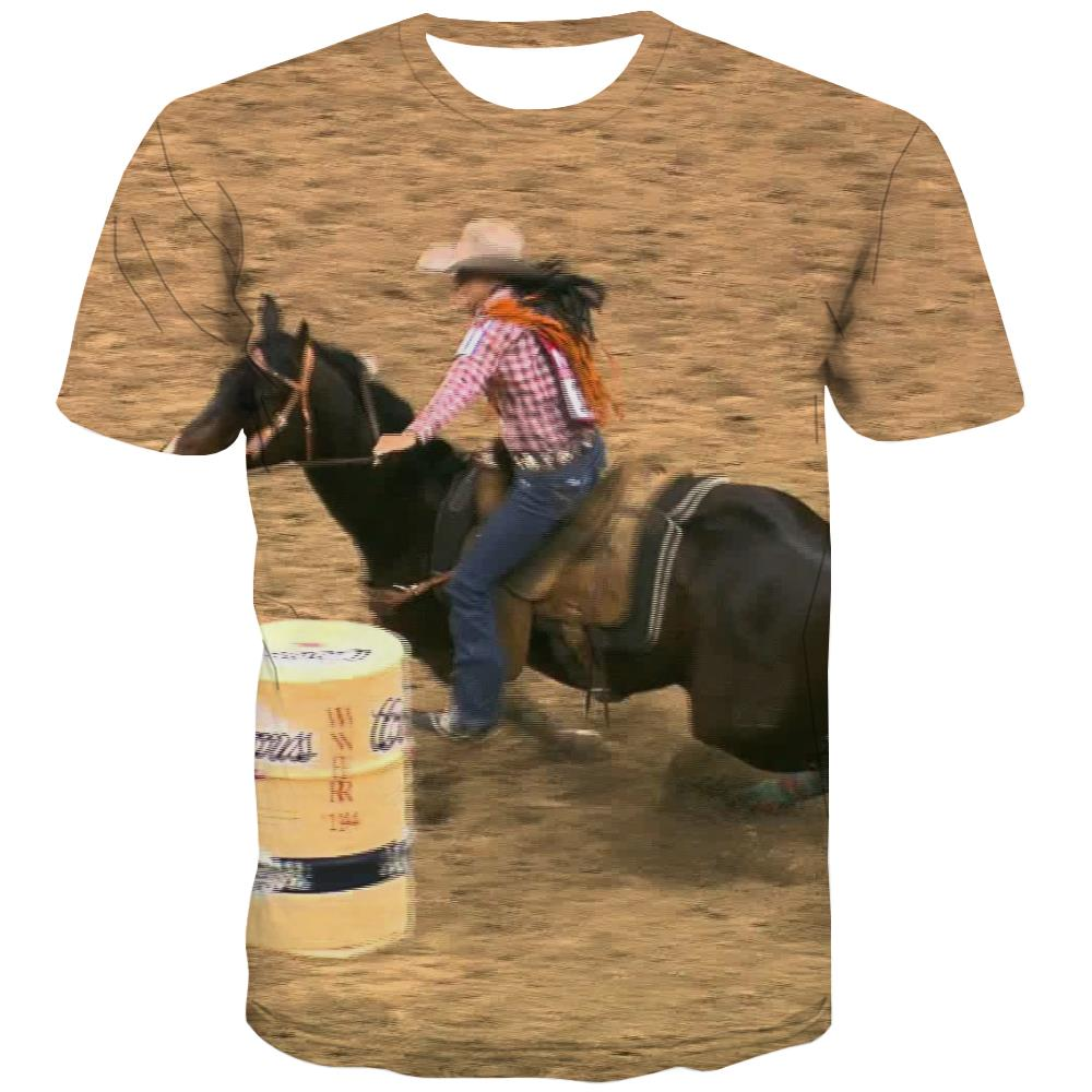 Borse T shirts Men Competition Tshirts Novelty Raced Tshirts Cool Equestrian T shirts Funny