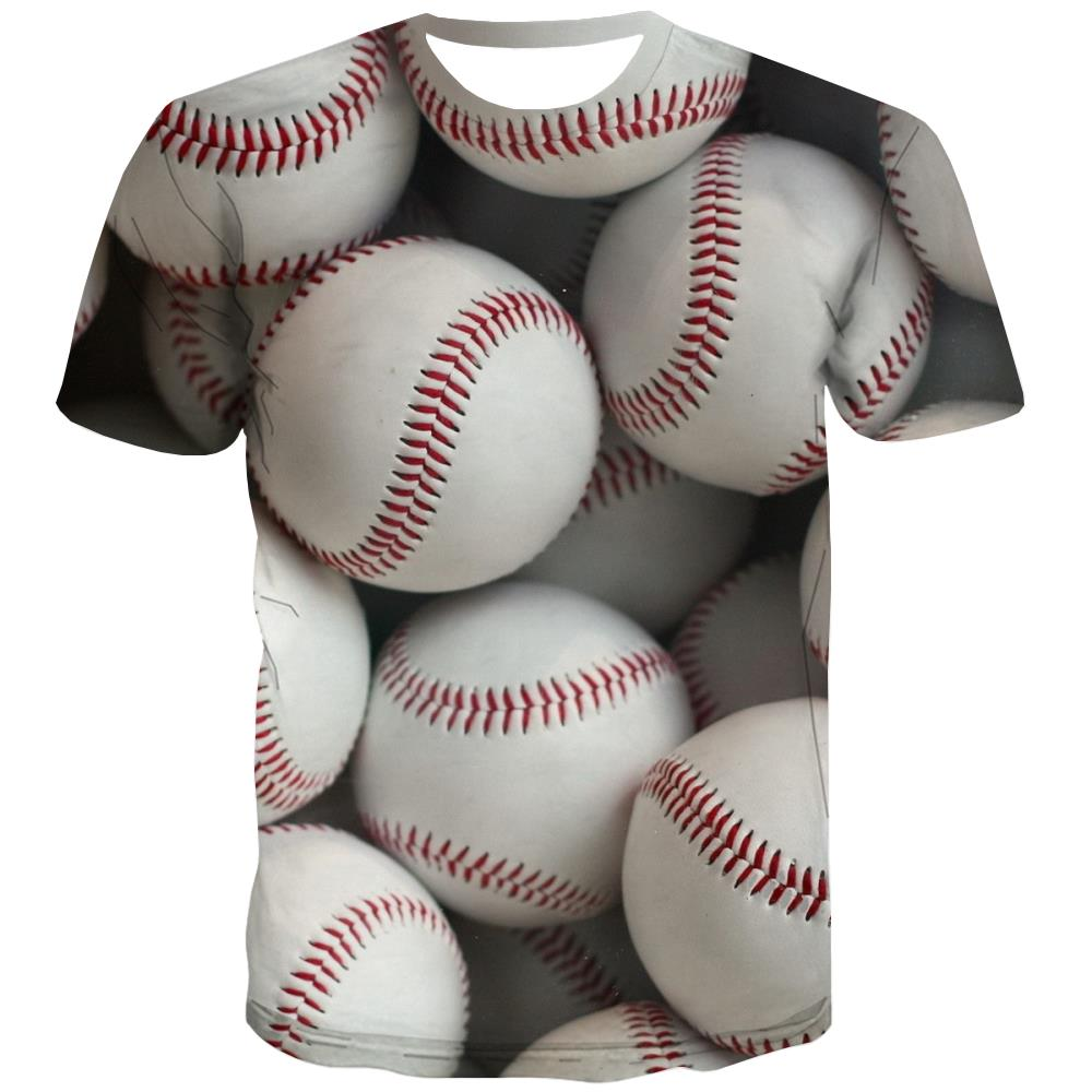 Baseball T-shirt Men Stadium T-shirts Graphic Game Tshirts Cool White T-shirts 3d