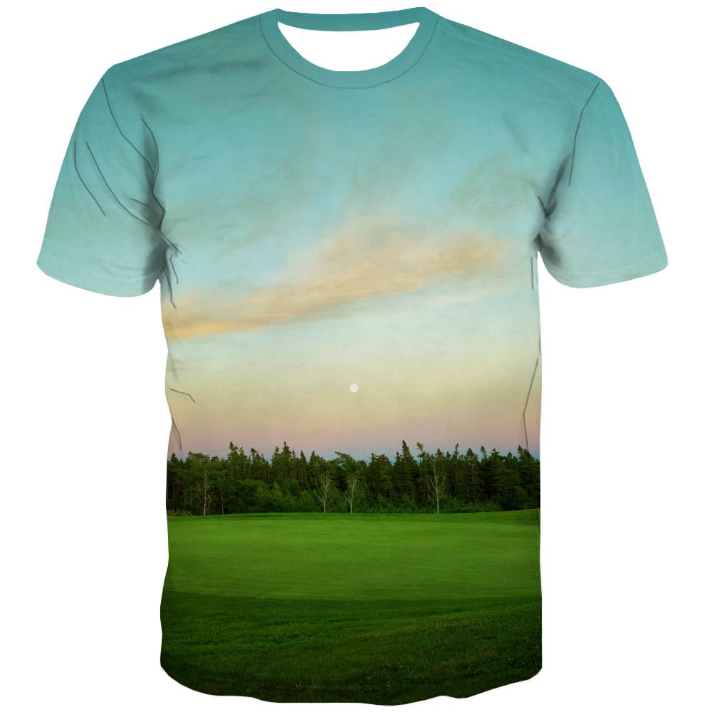 Lawn T-shirt Men Golf Tshirt Anime Forest Tshirts Cool Natural T-shirts 3d Game Shirt Print