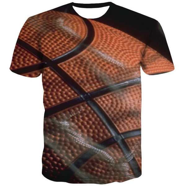 Basketball T-shirt Men Night View Tshirt Anime Galaxy Tshirts Novelty City Tshirts Cool